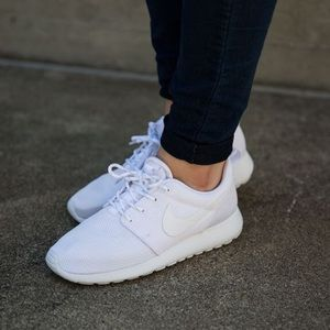 All White Nike Sneakers